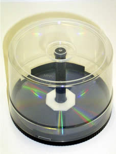 Empty CD/DVD Cake Box with Spindle Holds 50