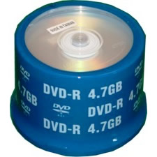 ProDisc DVD-R 4.7GB 8x Silver Shiny Thermal 50 Pack