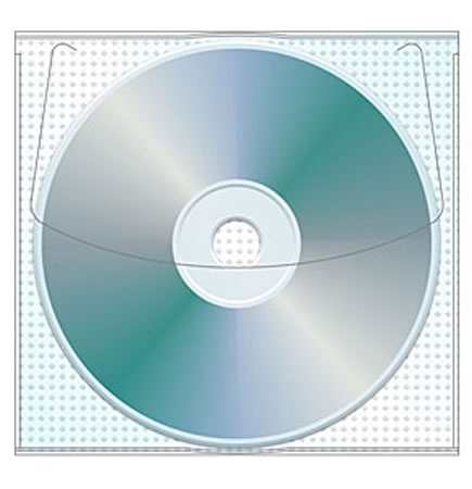 Vinyl Adhesive CD/DVD Sleeve 50 Pack
