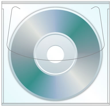 80mm Tamper Resistant Adhesive CD DVD Sleeve
