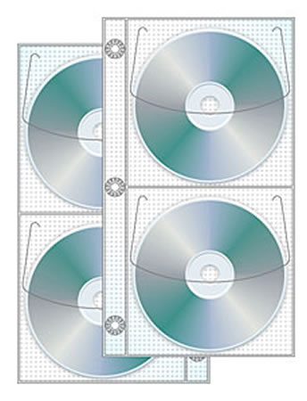 Vinyl 4 Pocket CD/DVD Half Page 3 Ring Binder 25 Pack