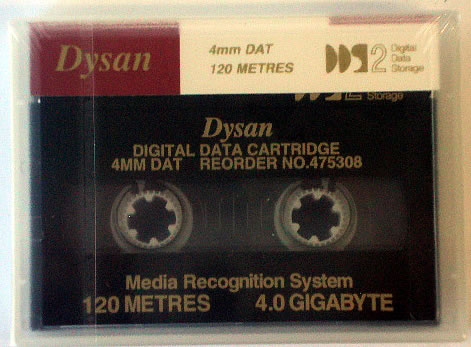 Dysan 4mm 120m 4GB Tape Cartridge