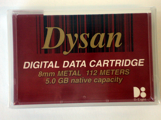 Dysan 8mm Metal 112m 5GB Tape Cartridge