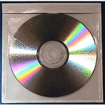 Vinyl CD DVD Tamper Proof Adhesive Pocket